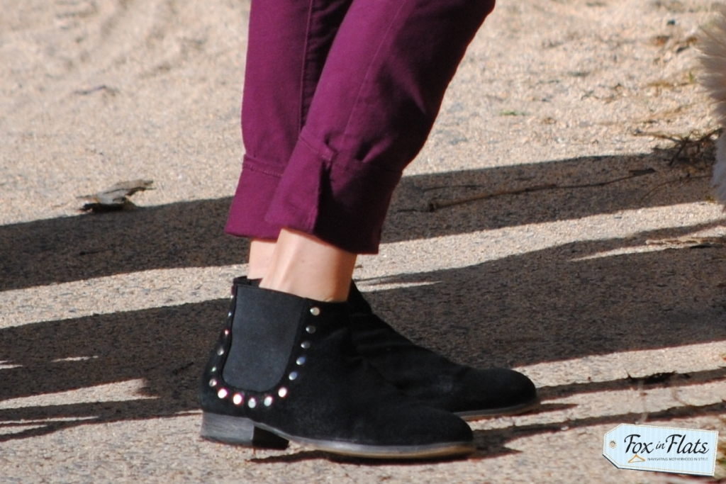 ankle boots coloured jeans coastal style