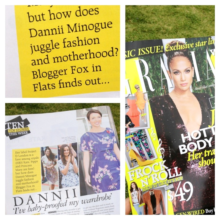 Andrea Michelle Fox in Flats GRAZIA magazine celebrity interview Dannii Minogue