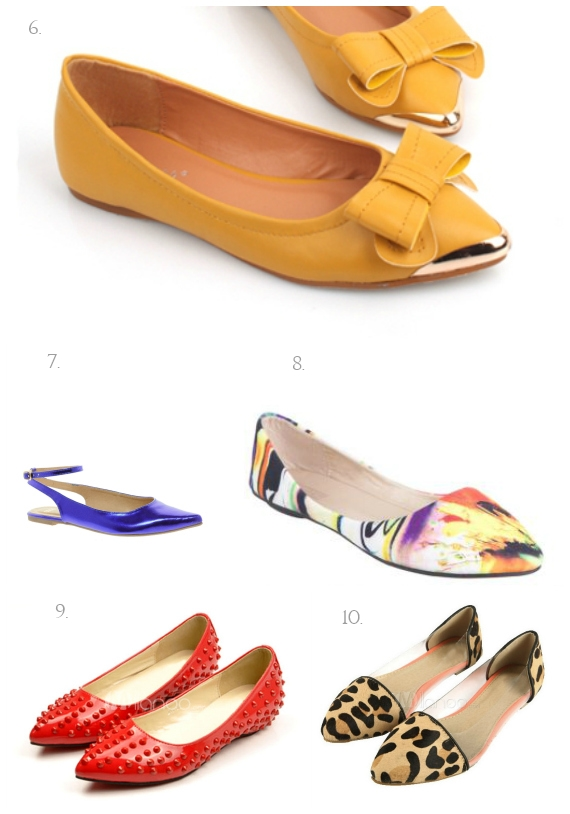 brights and patterned flats