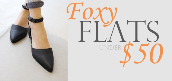 flats under fifty fox in flats