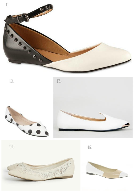 white flats under fifty