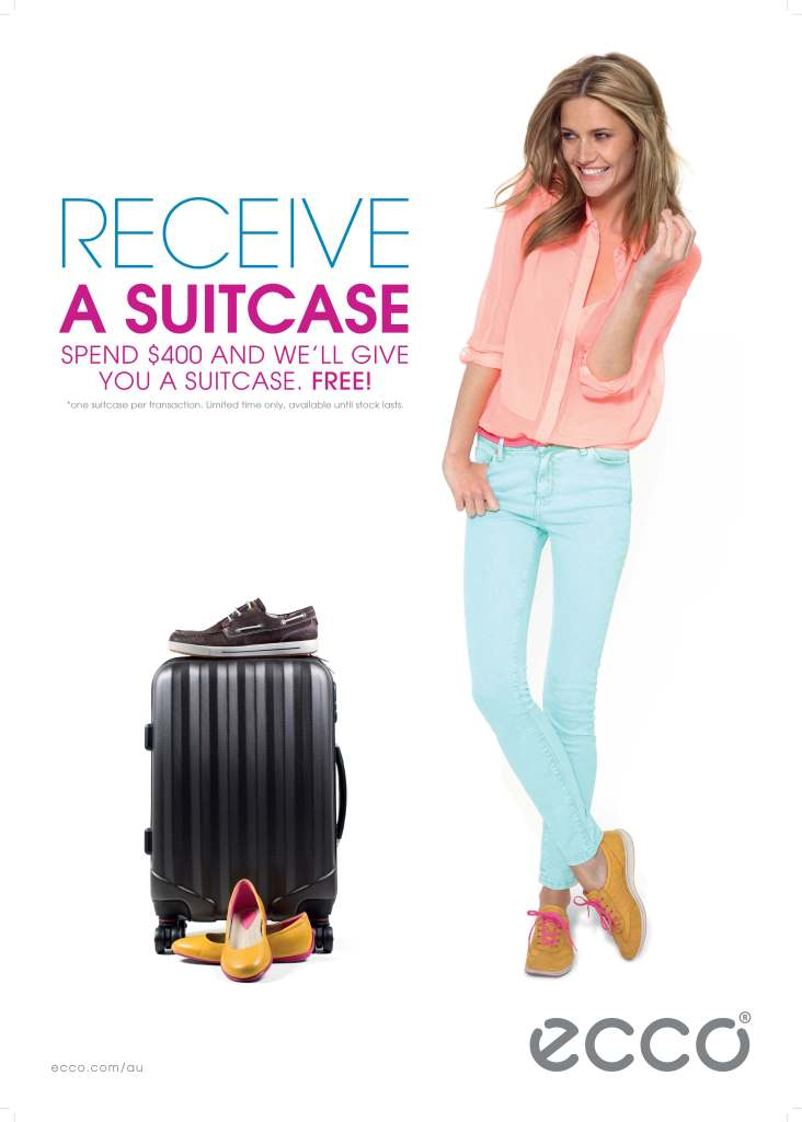 ECCO suitcase promotion