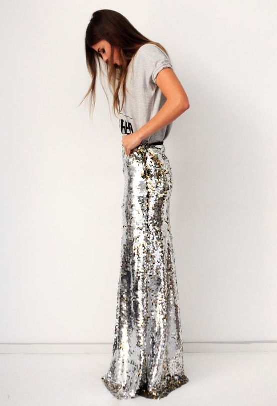 grey and sequins