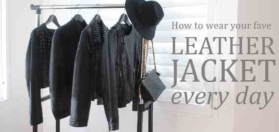 How to wear a leather jacket every day