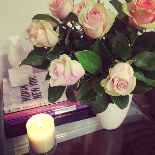 Fox in Flats antique roses and frangipani candle