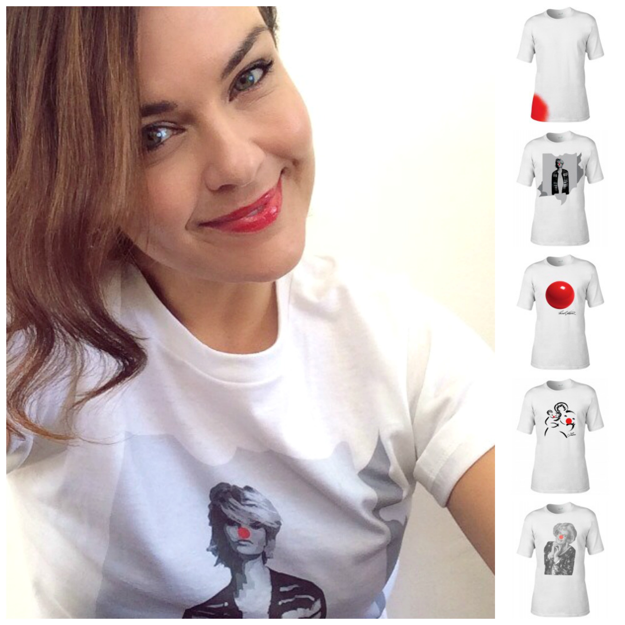 Red Nose Day Fox in Flats Designer Tshirt