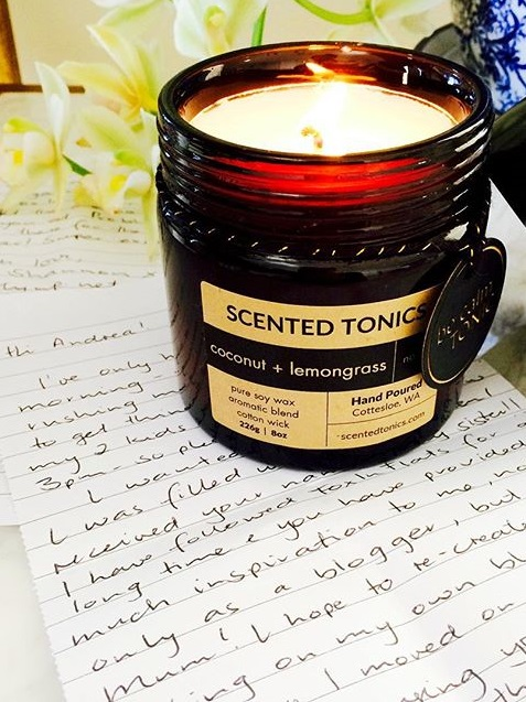 scented tonics candle