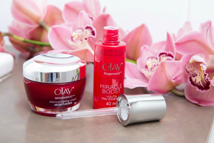 Olay Regenerist Miracle Boost Youth Pre-Essence and Olay Regenerist Micro-Sculpting Cream