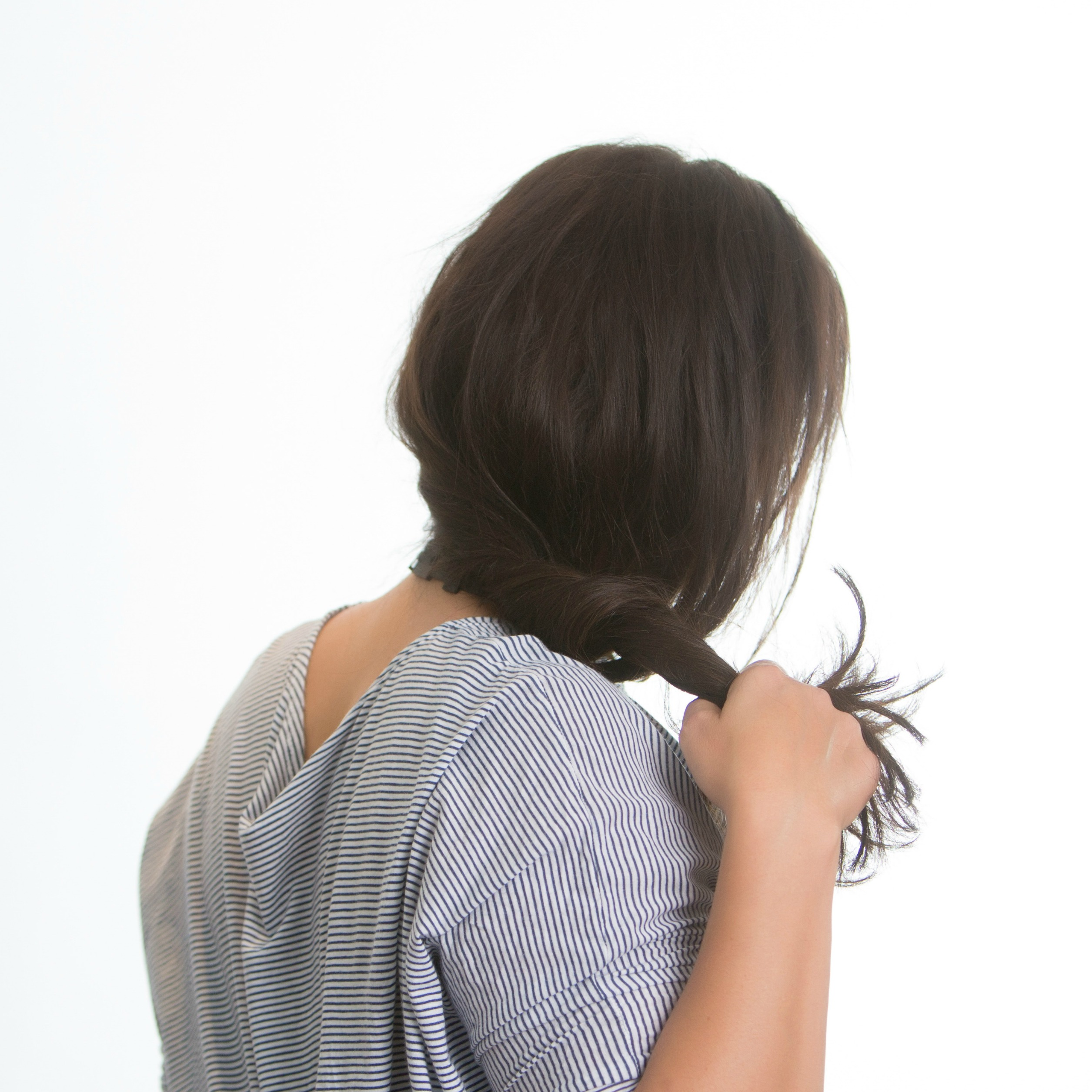 3 twist up around the nape of your neck